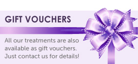 All our treatments are available as gift vouchers